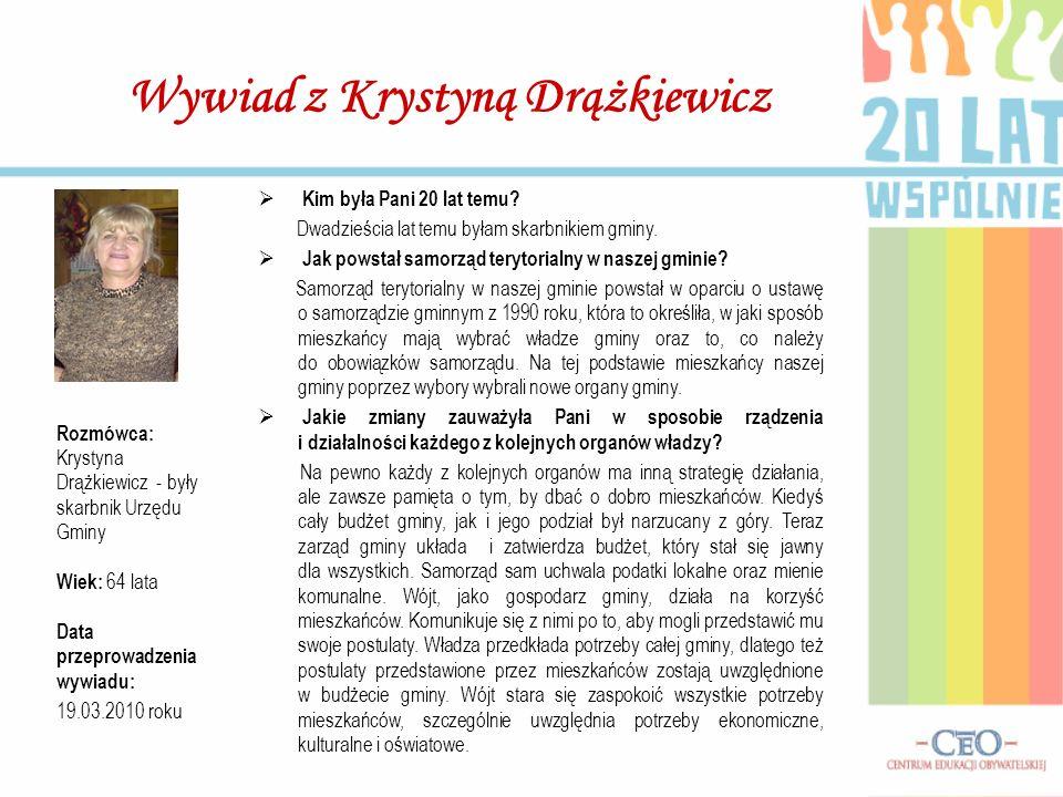 Wywiad z Krystyną Drążkiewicz
