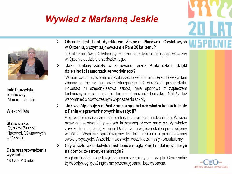Wywiad z Marianną Jeskie