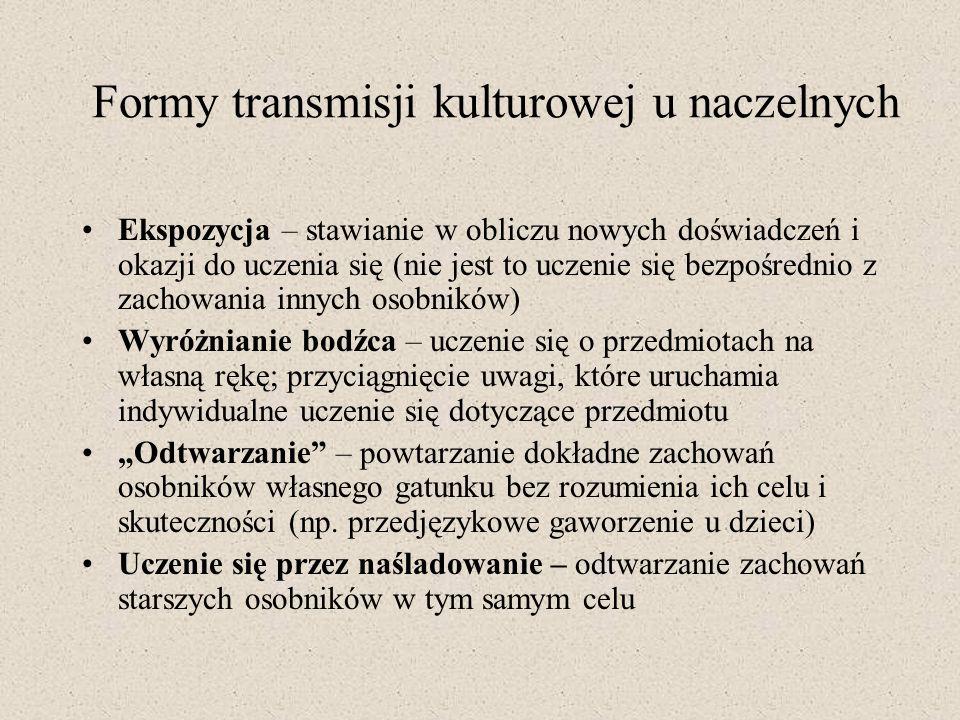 Formy transmisji kulturowej u naczelnych