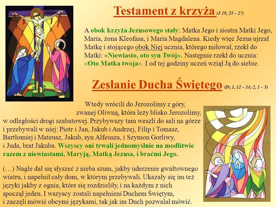 Testament z krzyża (J 19, 25 – 27)