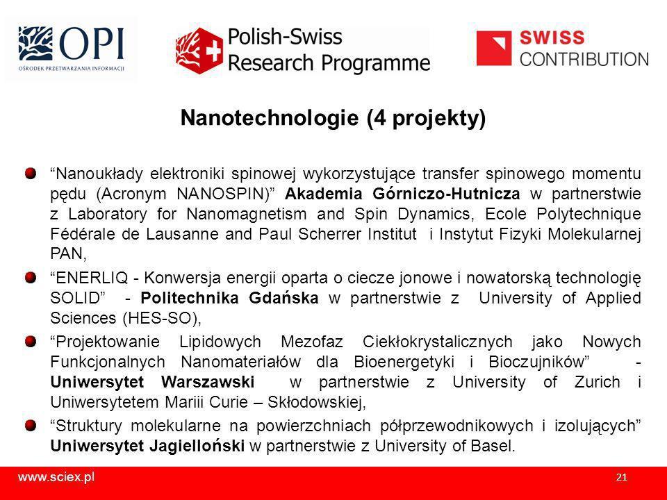 Nanotechnologie (4 projekty)