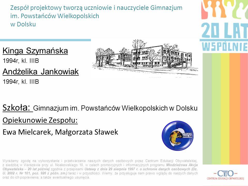 Szkoła: Gimnazjum im. Powstańców Wielkopolskich w Dolsku