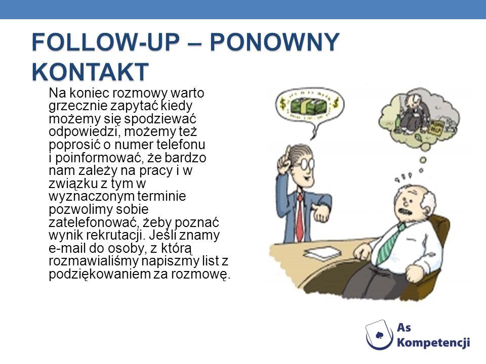 FOLLOW-UP – PONOWNY KONTAKT