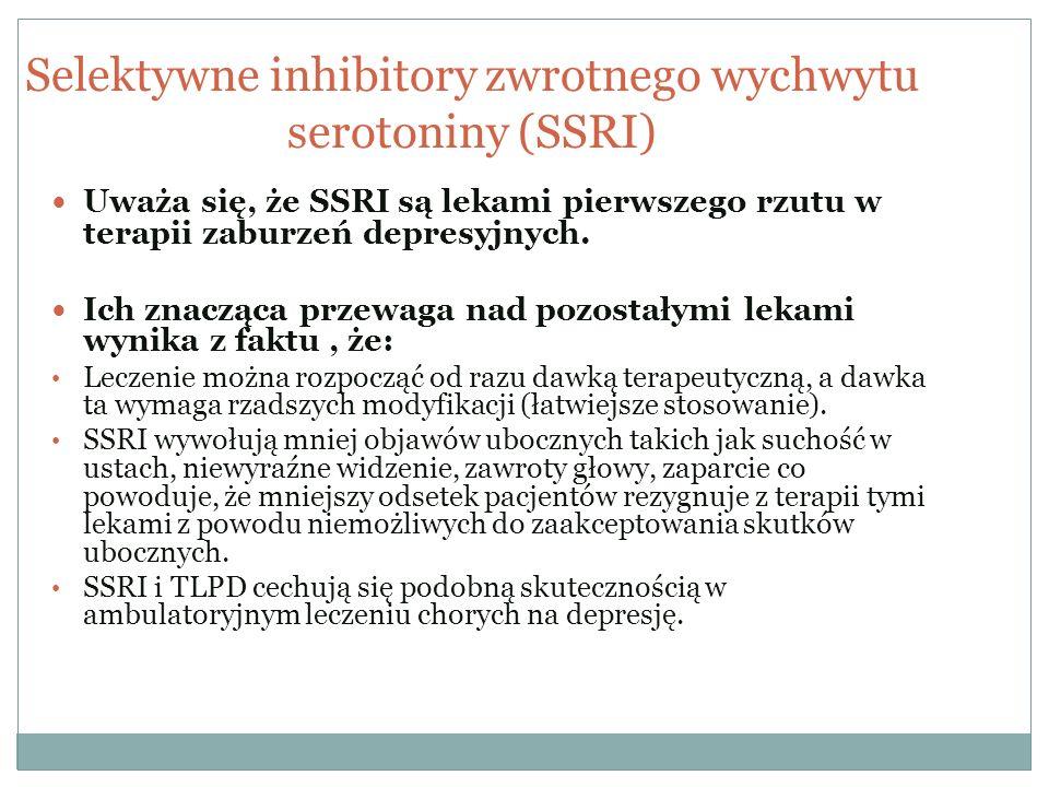 Selektywne inhibitory zwrotnego wychwytu serotoniny (SSRI)