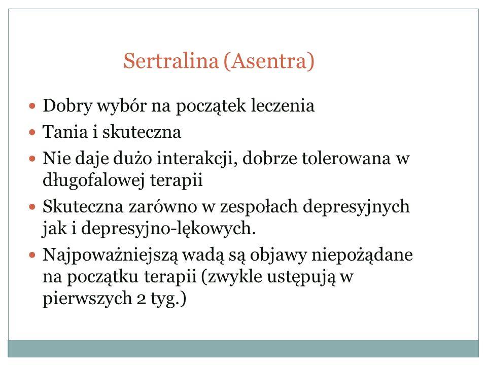 Sertralina (Asentra) Dobry wybór na początek leczenia