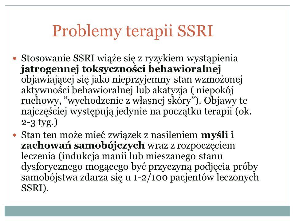 Problemy terapii SSRI