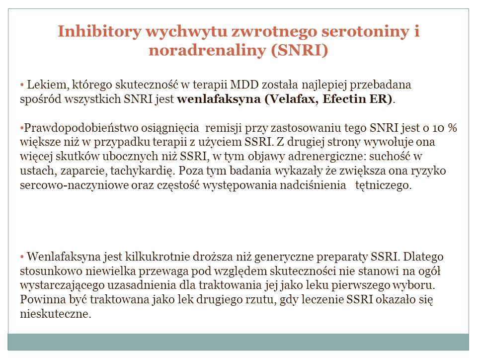 Inhibitory wychwytu zwrotnego serotoniny i noradrenaliny (SNRI)