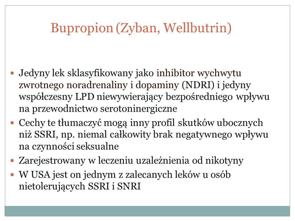 Bupropion (Zyban, Wellbutrin)