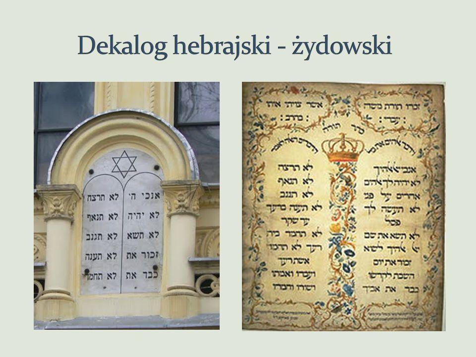 Dekalog hebrajski - żydowski