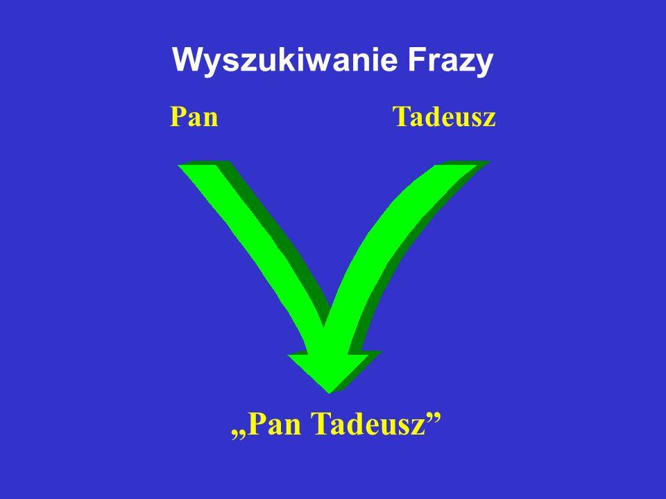 """Wyszukiwanie Frazy """"Pan Tadeusz Pan Tadeusz"""