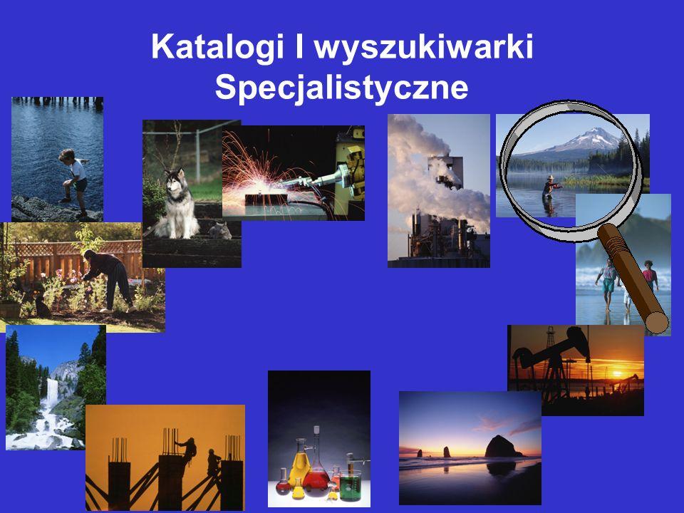 Katalogi I wyszukiwarki Specjalistyczne
