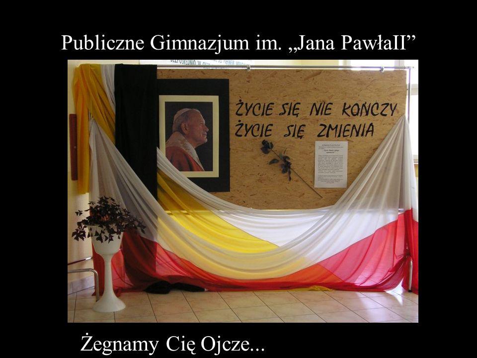 """Publiczne Gimnazjum im. """"Jana PawłaII"""