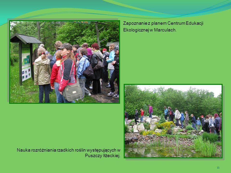 Zapoznanie z planem Centrum Edukacji Ekologicznej w Marculach.