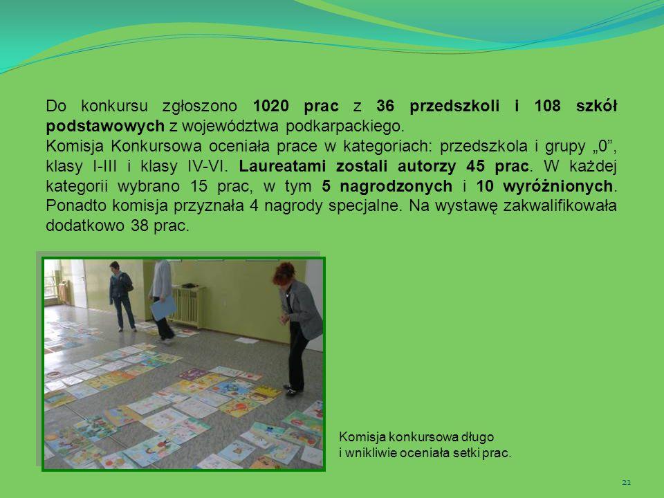 Do konkursu zgłoszono 1020 prac z 36 przedszkoli i 108 szkół podstawowych z województwa podkarpackiego.