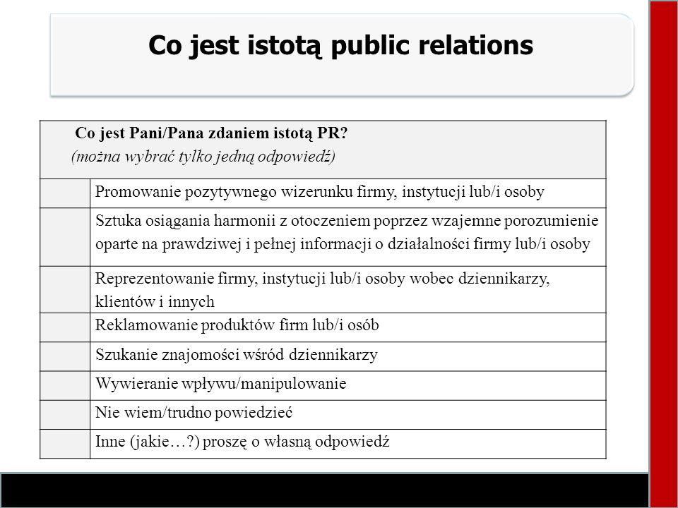 Co jest istotą public relations