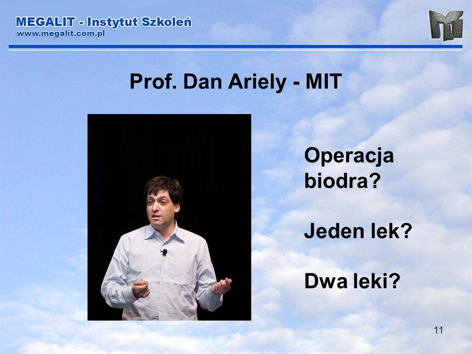 Prof. Dan Ariely - MIT Operacja biodra Jeden lek Dwa leki