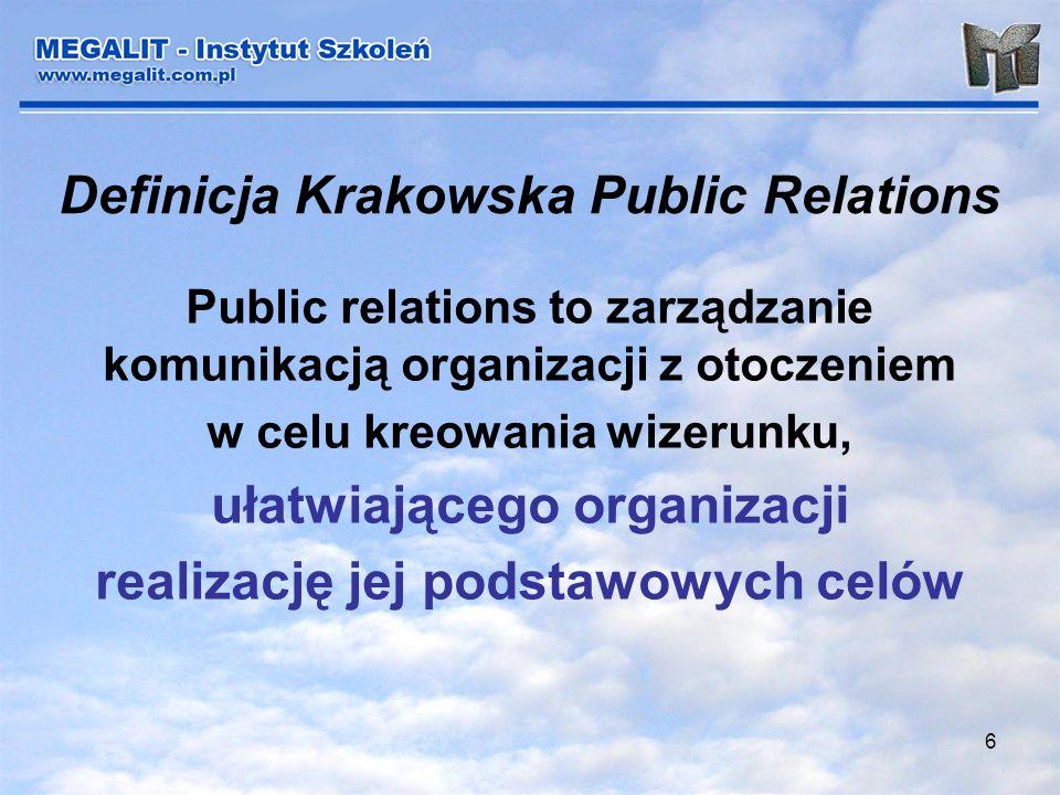 Definicja Krakowska Public Relations