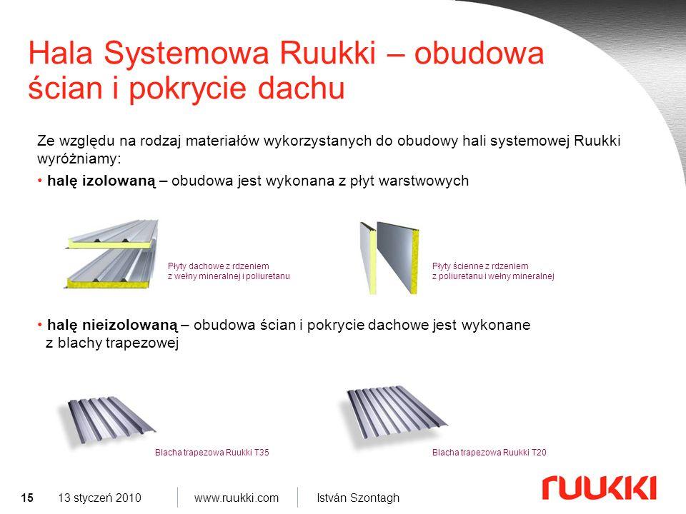 Hala Systemowa Ruukki – obudowa ścian i pokrycie dachu