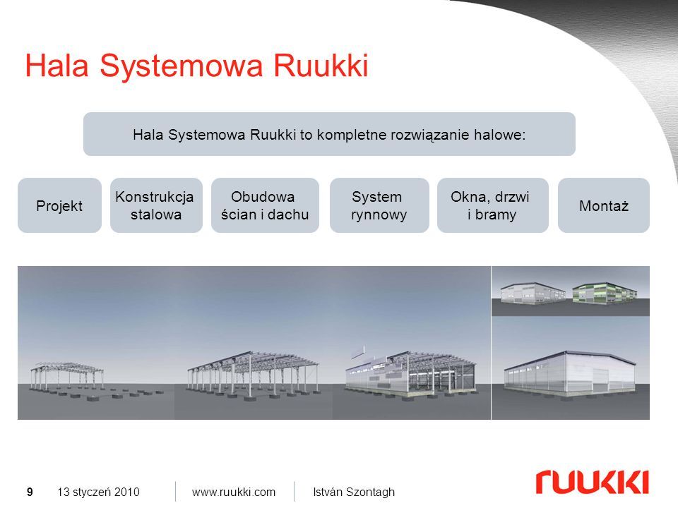 Hala Systemowa Ruukki to kompletne rozwiązanie halowe: