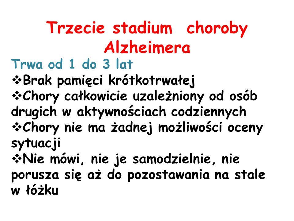 Trzecie stadium choroby Alzheimera