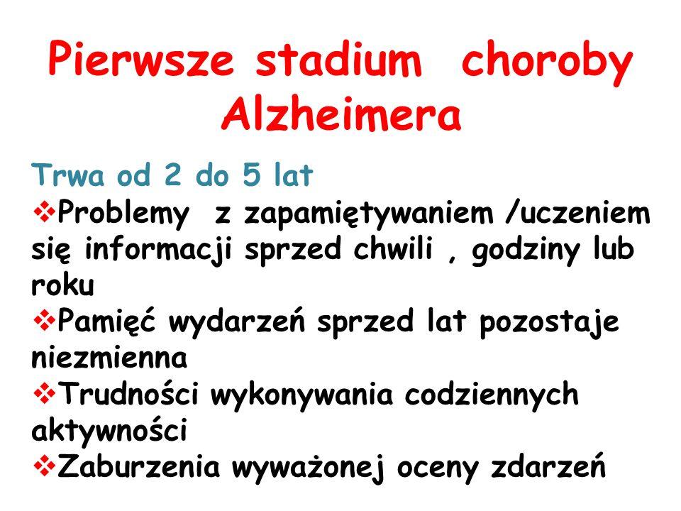 Pierwsze stadium choroby Alzheimera