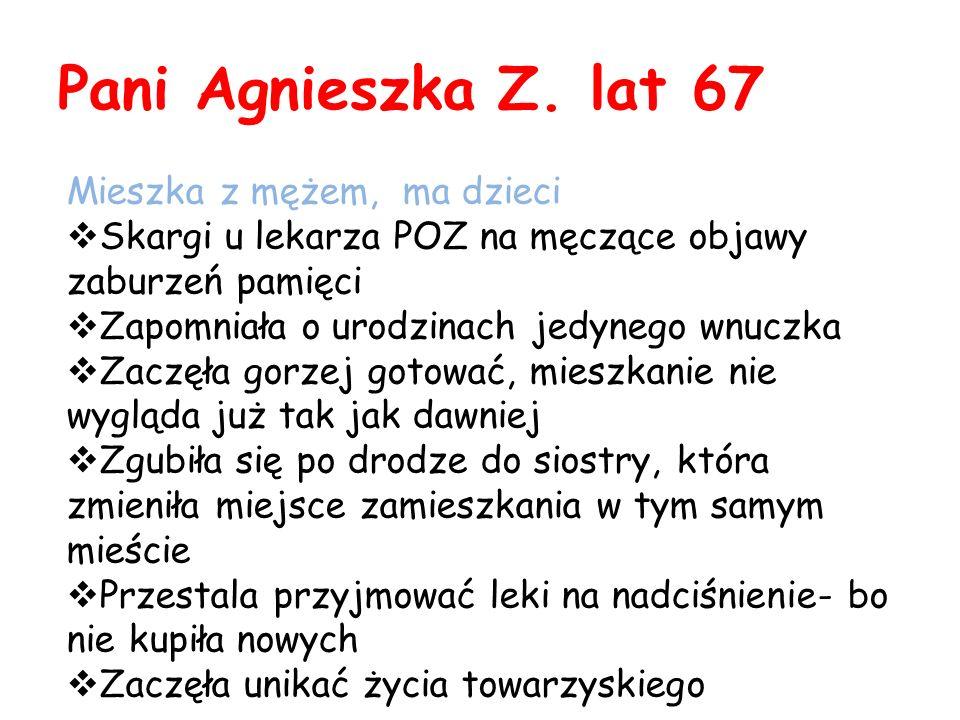 Pani Agnieszka Z. lat 67 Mieszka z mężem, ma dzieci