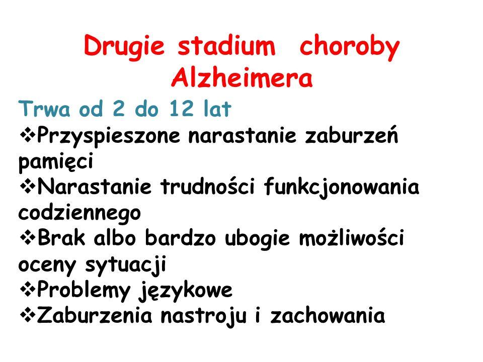Drugie stadium choroby Alzheimera