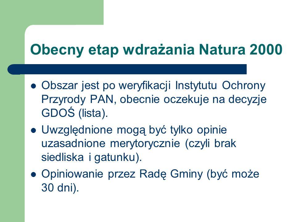 Obecny etap wdrażania Natura 2000