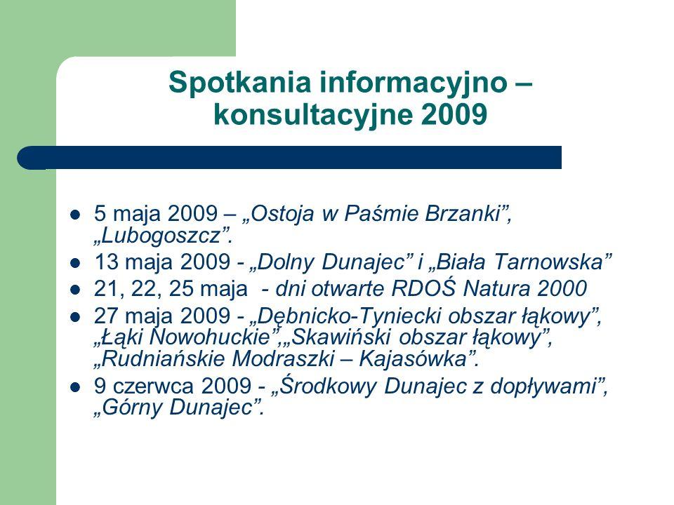 Spotkania informacyjno – konsultacyjne 2009