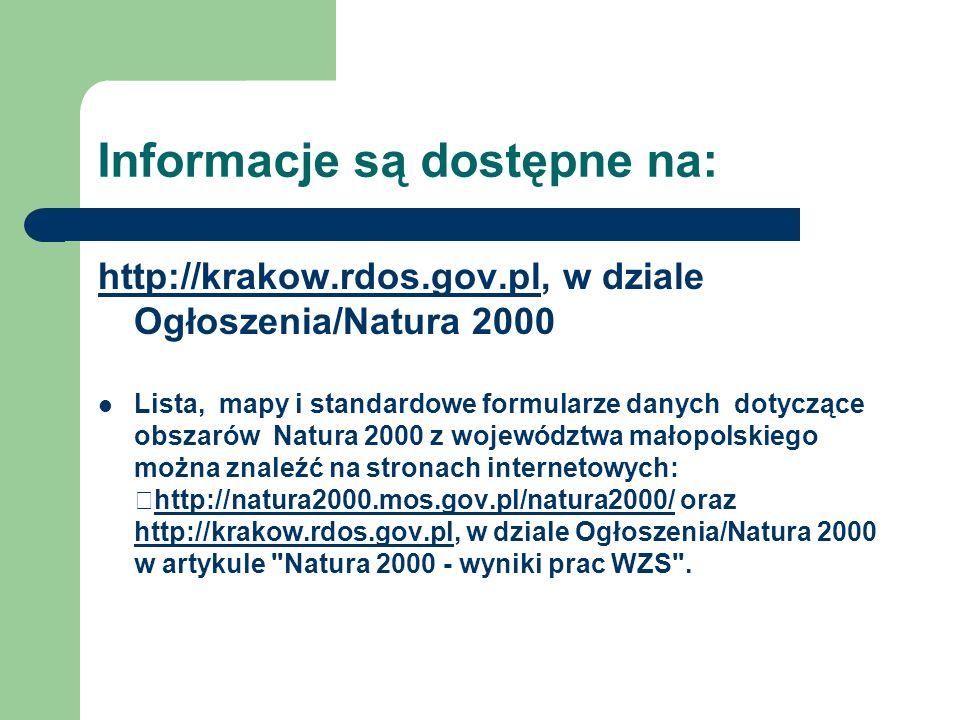 Informacje są dostępne na: