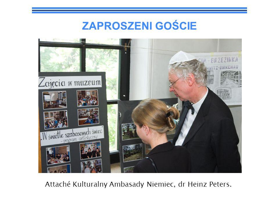 Attaché Kulturalny Ambasady Niemiec, dr Heinz Peters.