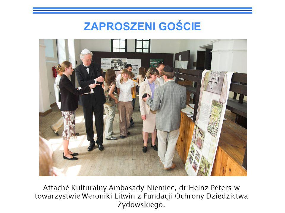 ZAPROSZENI GOŚCIEAttaché Kulturalny Ambasady Niemiec, dr Heinz Peters w towarzystwie Weroniki Litwin z Fundacji Ochrony Dziedzictwa Żydowskiego.
