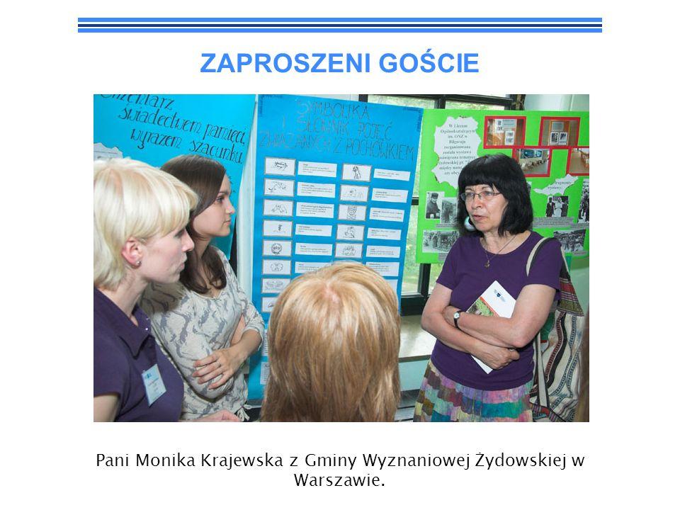 Pani Monika Krajewska z Gminy Wyznaniowej Żydowskiej w Warszawie.