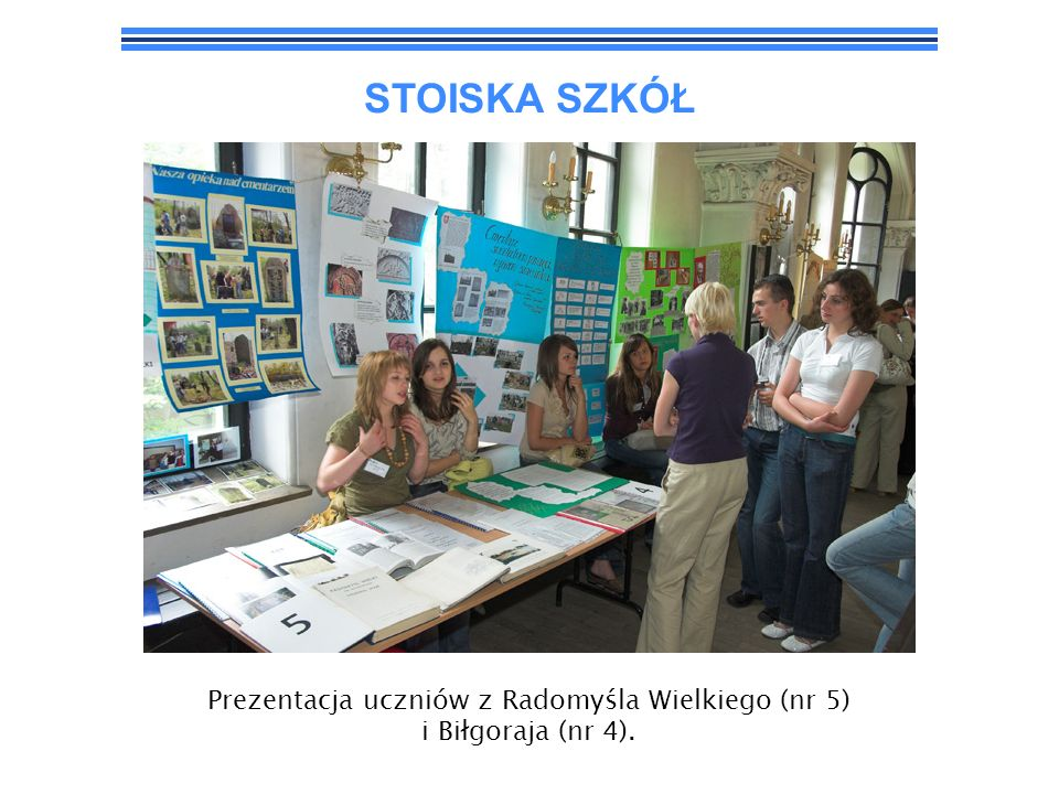 Prezentacja uczniów z Radomyśla Wielkiego (nr 5) i Biłgoraja (nr 4).