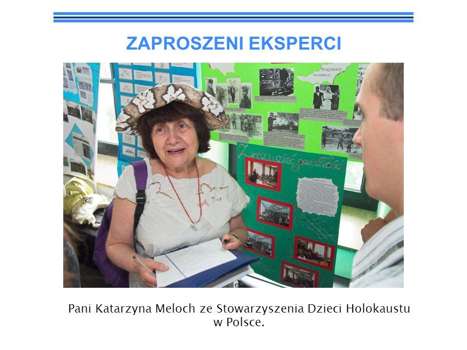 Pani Katarzyna Meloch ze Stowarzyszenia Dzieci Holokaustu w Polsce.
