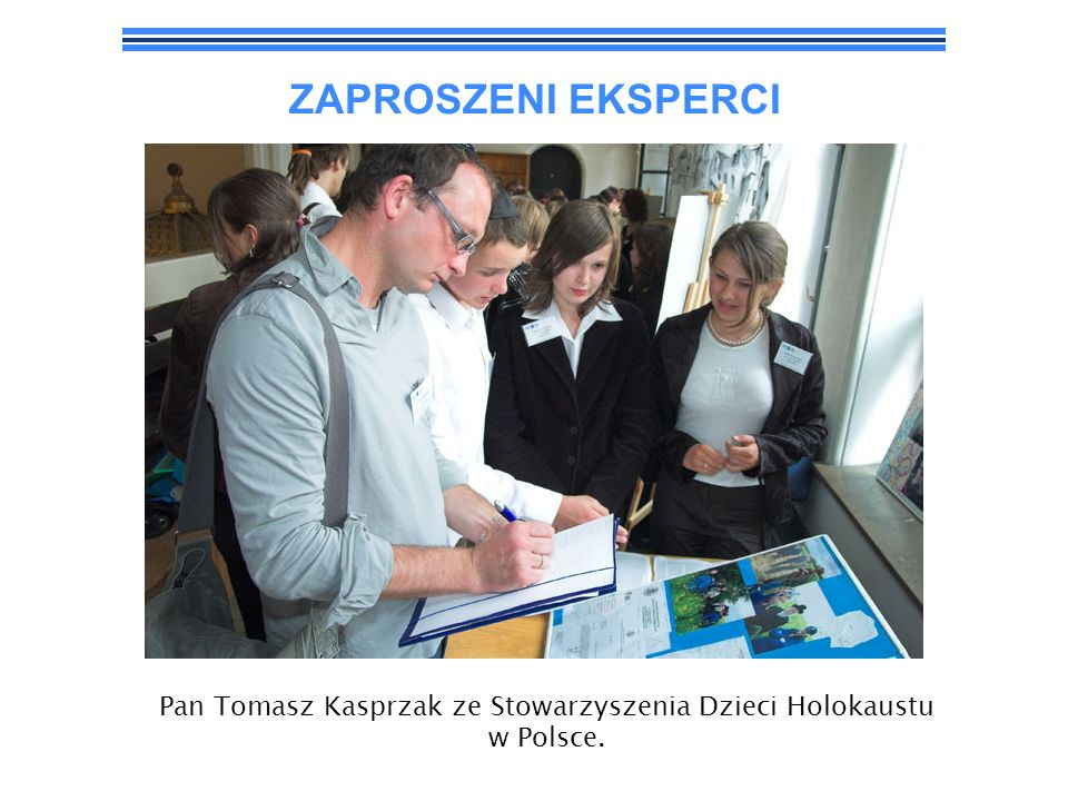 Pan Tomasz Kasprzak ze Stowarzyszenia Dzieci Holokaustu w Polsce.