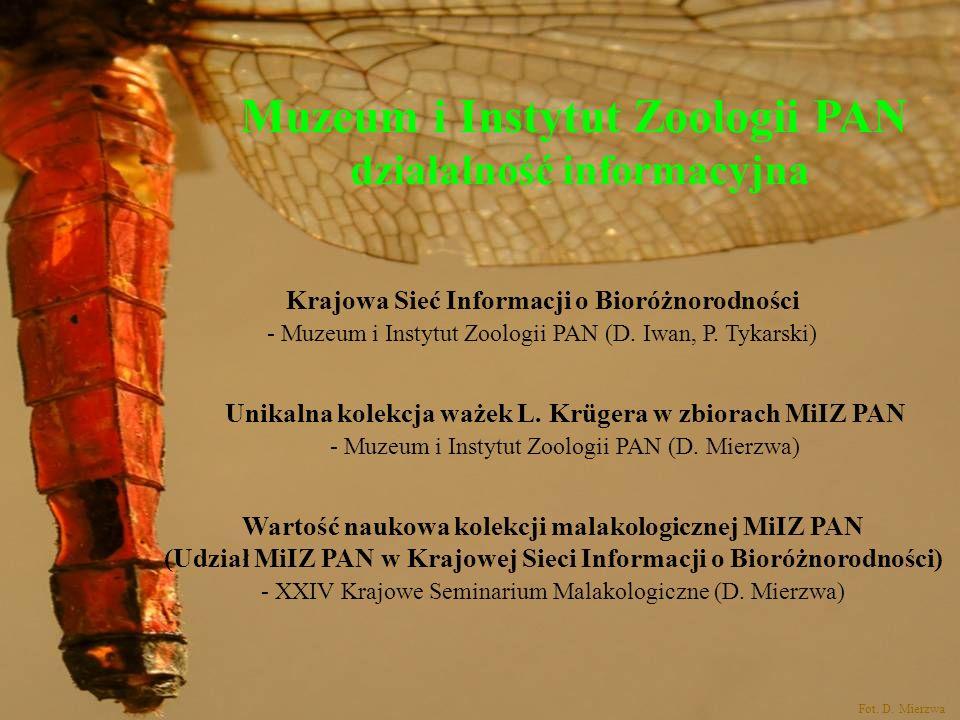 Muzeum i Instytut Zoologii PAN działalność informacyjna