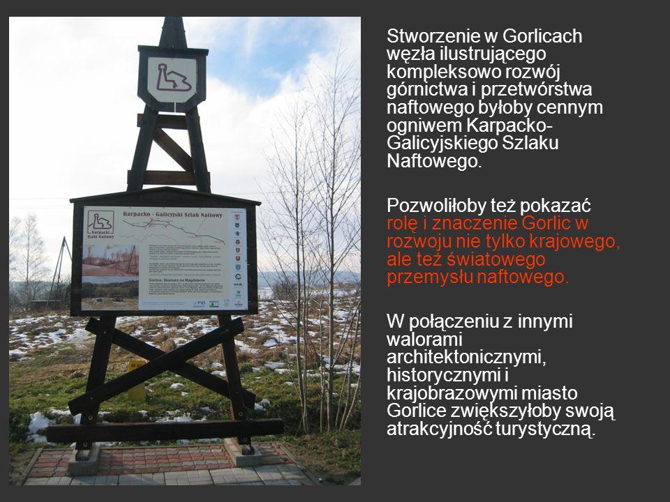 Stworzenie w Gorlicach węzła ilustrującego kompleksowo rozwój górnictwa i przetwórstwa naftowego byłoby cennym ogniwem Karpacko-Galicyjskiego Szlaku Naftowego.