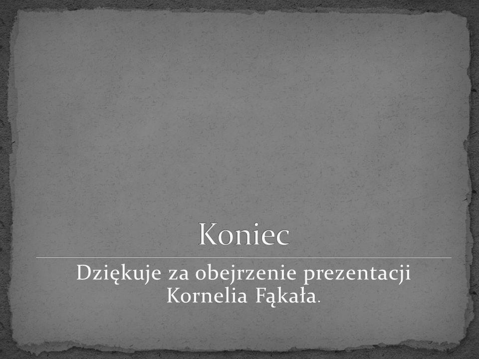 Dziękuje za obejrzenie prezentacji Kornelia Fąkała.