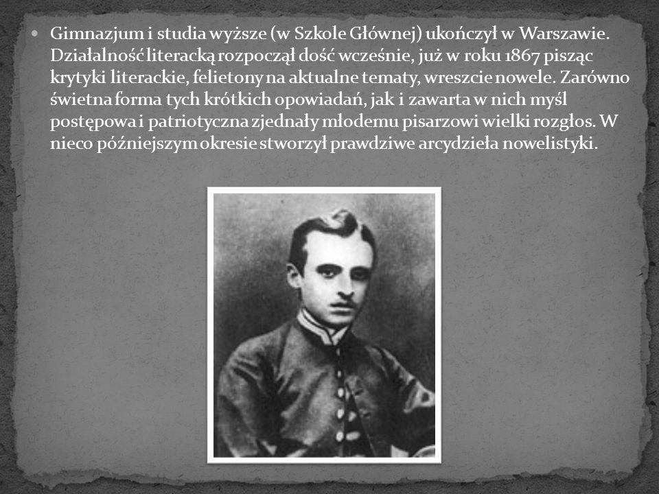 Gimnazjum i studia wyższe (w Szkole Głównej) ukończył w Warszawie