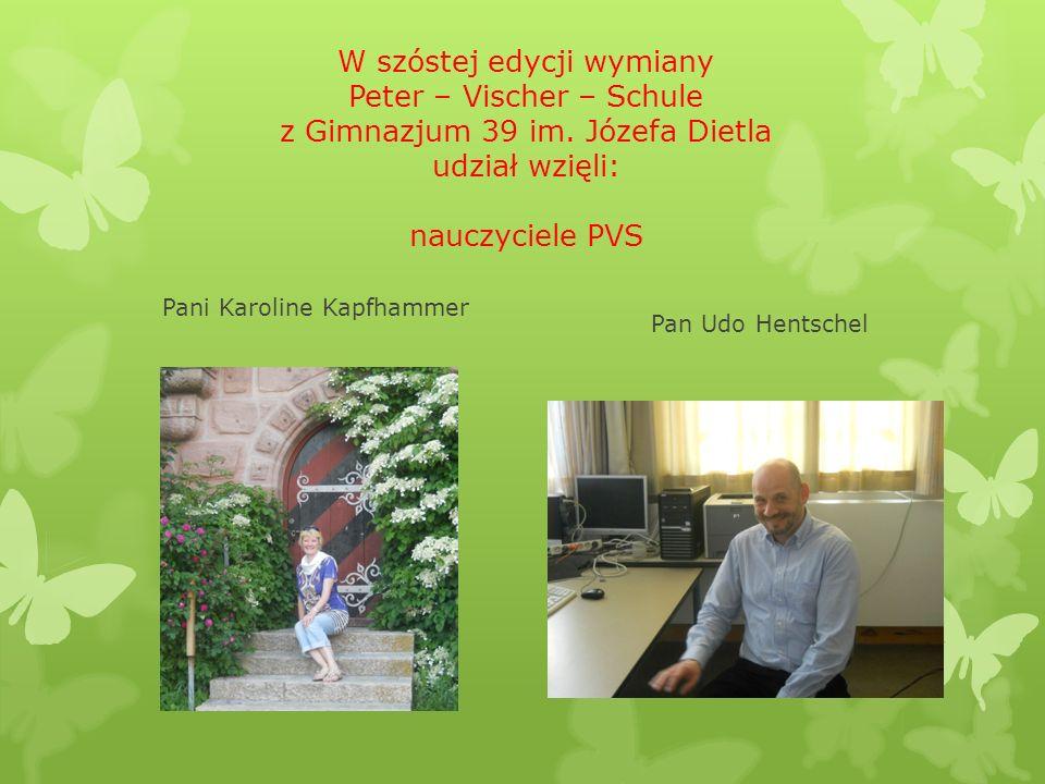 W szóstej edycji wymiany Peter – Vischer – Schule z Gimnazjum 39 im