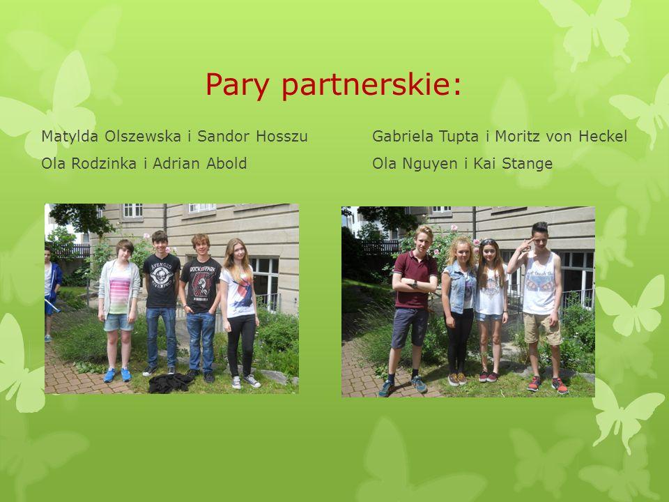 Pary partnerskie: Matylda Olszewska i Sandor Hosszu