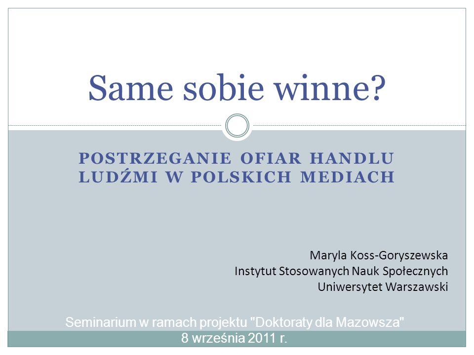 Postrzeganie ofiar handlu ludźmi w polskich mediach