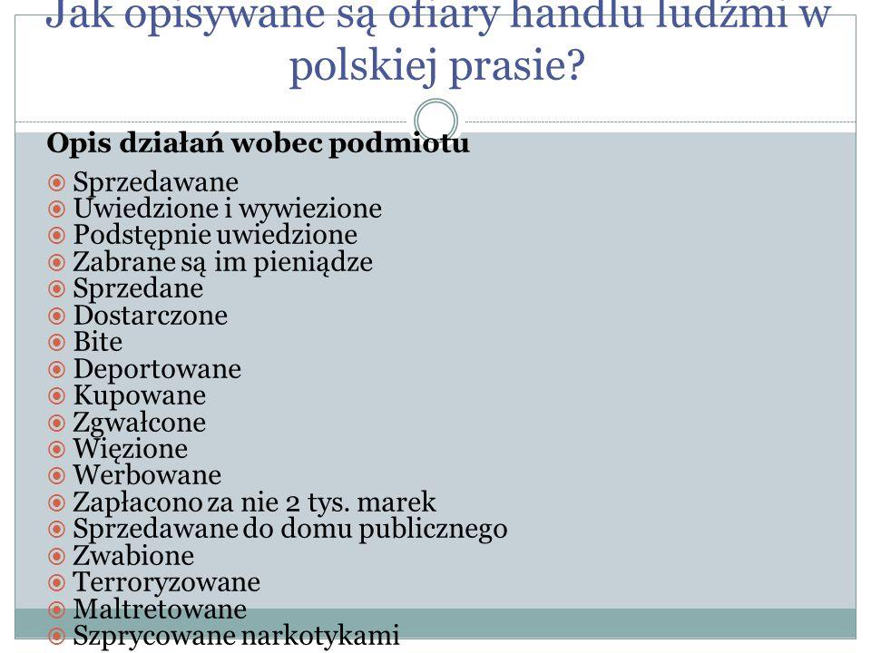 Jak opisywane są ofiary handlu ludźmi w polskiej prasie