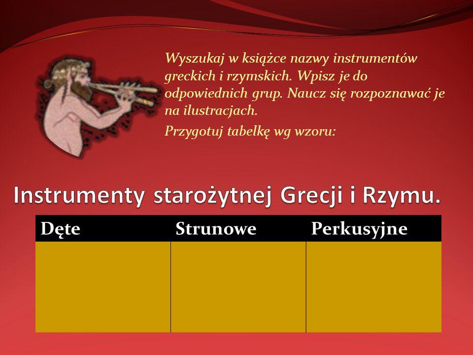 Instrumenty starożytnej Grecji i Rzymu.