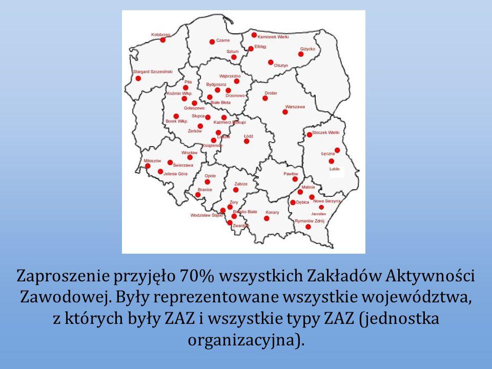 Zaproszenie przyjęło 70% wszystkich Zakładów Aktywności Zawodowej