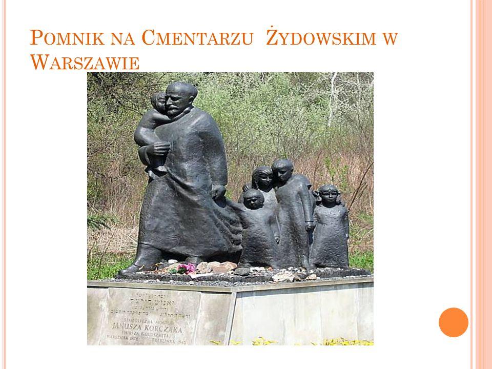 Pomnik na Cmentarzu Żydowskim w Warszawie