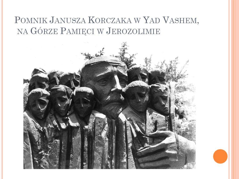 Pomnik Janusza Korczaka w Yad Vashem, na Górze Pamięci w Jerozolimie