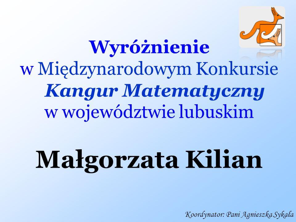 Małgorzata Kilian Wyróżnienie