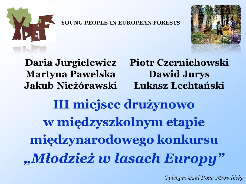 """""""Młodzież w lasach Europy"""